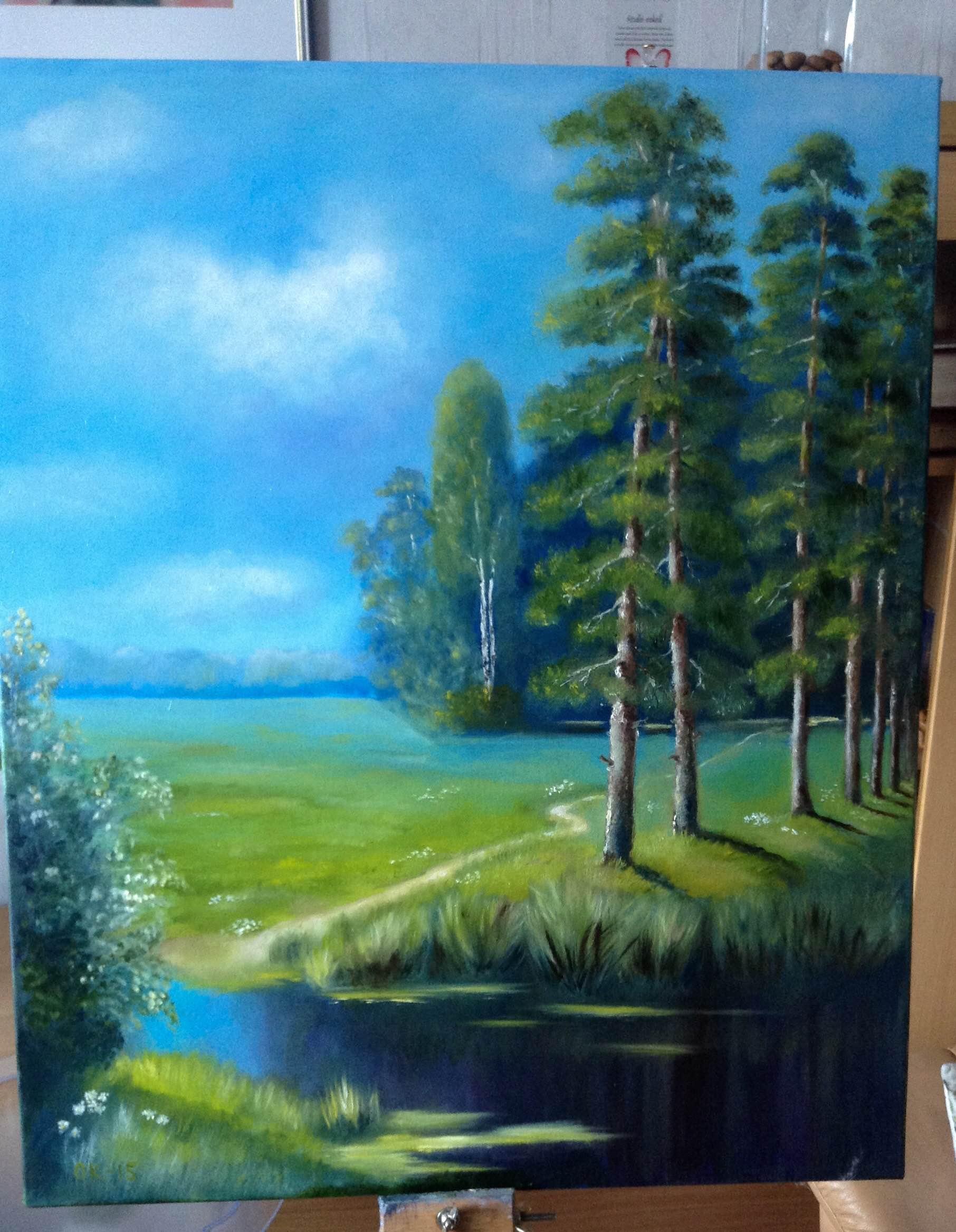 Сосны в лесу Работа. Ольги Кемовой