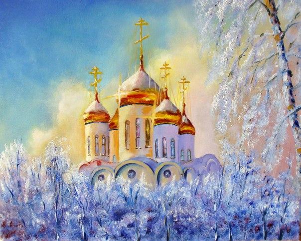 Золотые купола.Работа Александра Чесных